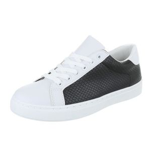 Femme chaussures loisirs chaussures Sneakers Chaussures de sport noir blanc 41 6nyflx0XkI
