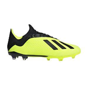best sneakers 61234 785f3 CHAUSSURES DE FOOTBALL Chaussures football adidas X 18.2 FG Jaune-Noir