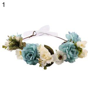 BANDEAU , SERRE,TÊTE Couronne de fleurs pour les cheveux des dames pour