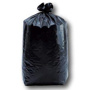 SAC POUBELLE Lot de 200 sacs poubelles noirs 100 litres 82 x 85