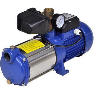 POMPE ARROSAGE Pompe à eau de surface bleue avec manomètre 1 300