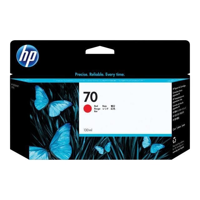HP Cartouche d'encre 70 original - Capacité standard 130ml - Pack de 1 avec d'encre Vivera - Rouge