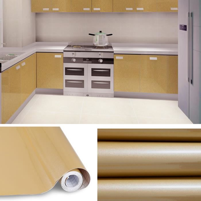 rouleau de 5m auto-adhesif stickers de cabinet cuisine etanche