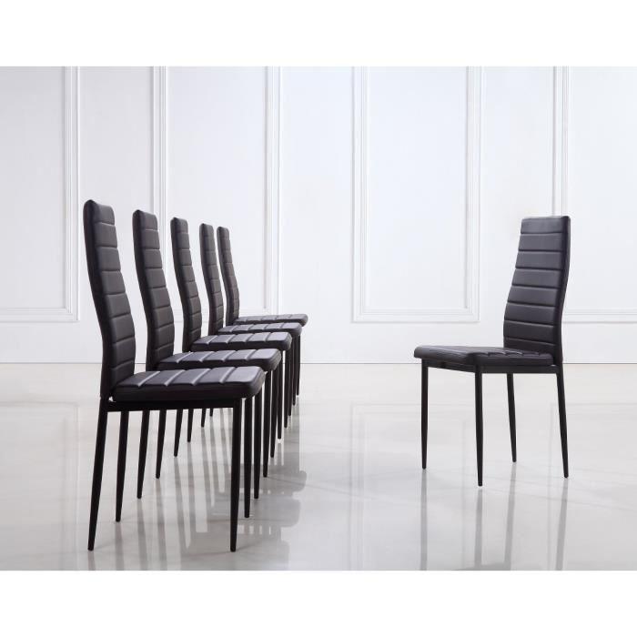 Lot de 6 chaises design marron fonc achat vente for Lot de 6 chaises design
