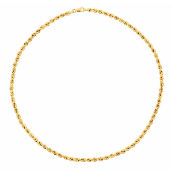 Collier Corde en OR Jaune 18 Carats