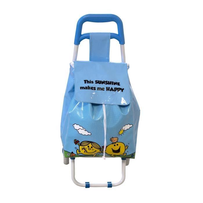 chariot de course pour enfant bleu monsieur madame achat. Black Bedroom Furniture Sets. Home Design Ideas