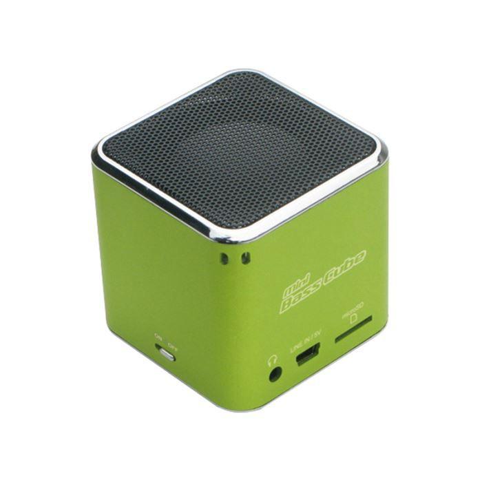 HautParleur  Mini Lecteur Mp JayTech Bass Cube  Enceinte Nomade
