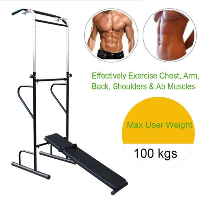 BANC DE MUSCULATION Station De Traction Chaise Rom