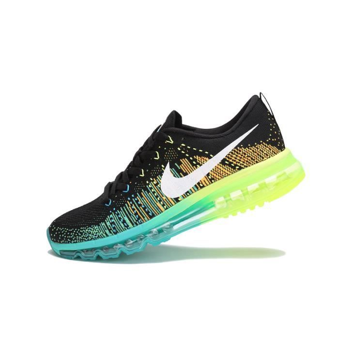 newest collection 1df58 1c155 BASKET NIKE FLYKNIT AIR MAX NOIR   TURBO VERT