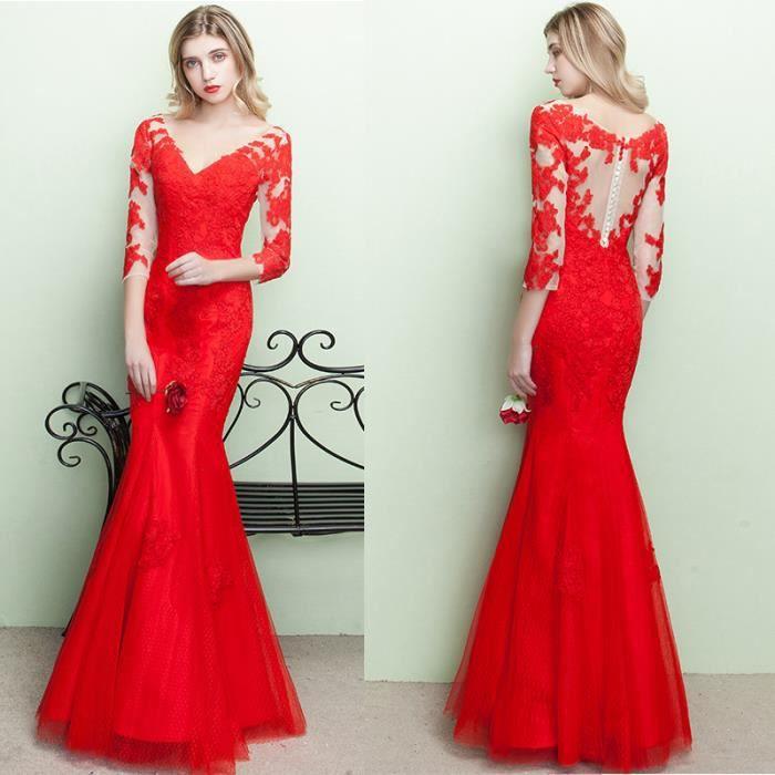7549c31e7ce ... Rouge Noir Bleu Roi. ROBE Robes de Soirée Cérémonie Cocktail Femme ...