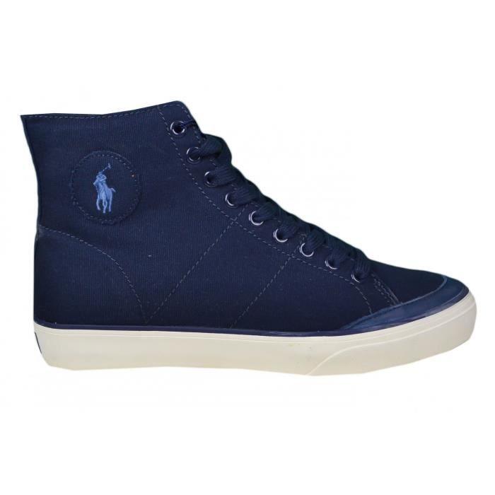 Baskets montantes Ralph Lauren bleu marine en toile pour homme - Couleur   Bleu - Taille  40 30bfd866b3a
