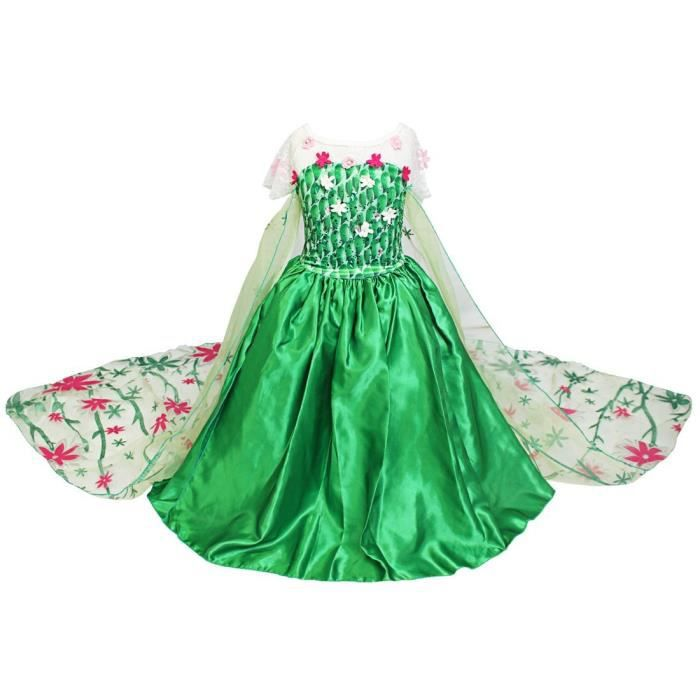 Reine des neiges enfant filles princesse d guisement robe - Deguisement princesse des neiges ...