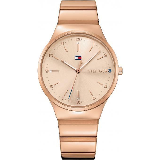 montre tommy hilfiger 1781799 montre acier or rose femme