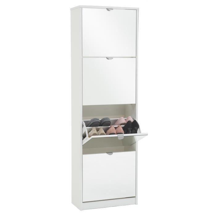 meuble chaussure miroir achat vente meuble chaussure miroir pas cher soldes d s le 10. Black Bedroom Furniture Sets. Home Design Ideas