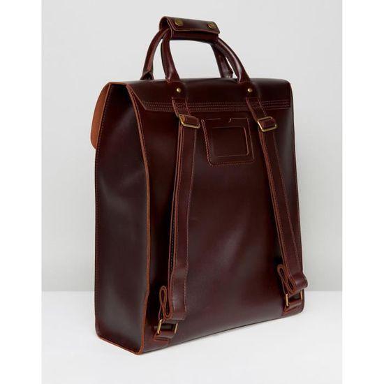 design de qualité 65b5a 5c867 Dr Martens Sac à dos en cuir pour hommes BH0ZC Marron ...