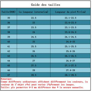 guide taille chaussure fila