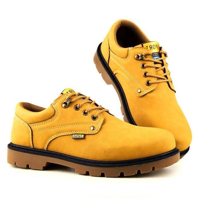 Sneakers De De Pu Sécurité Décontracté Confortable Homme Chaussures Lacets Minetom Plate Cuir Travail Britannique Style Shoes twZqRxYg