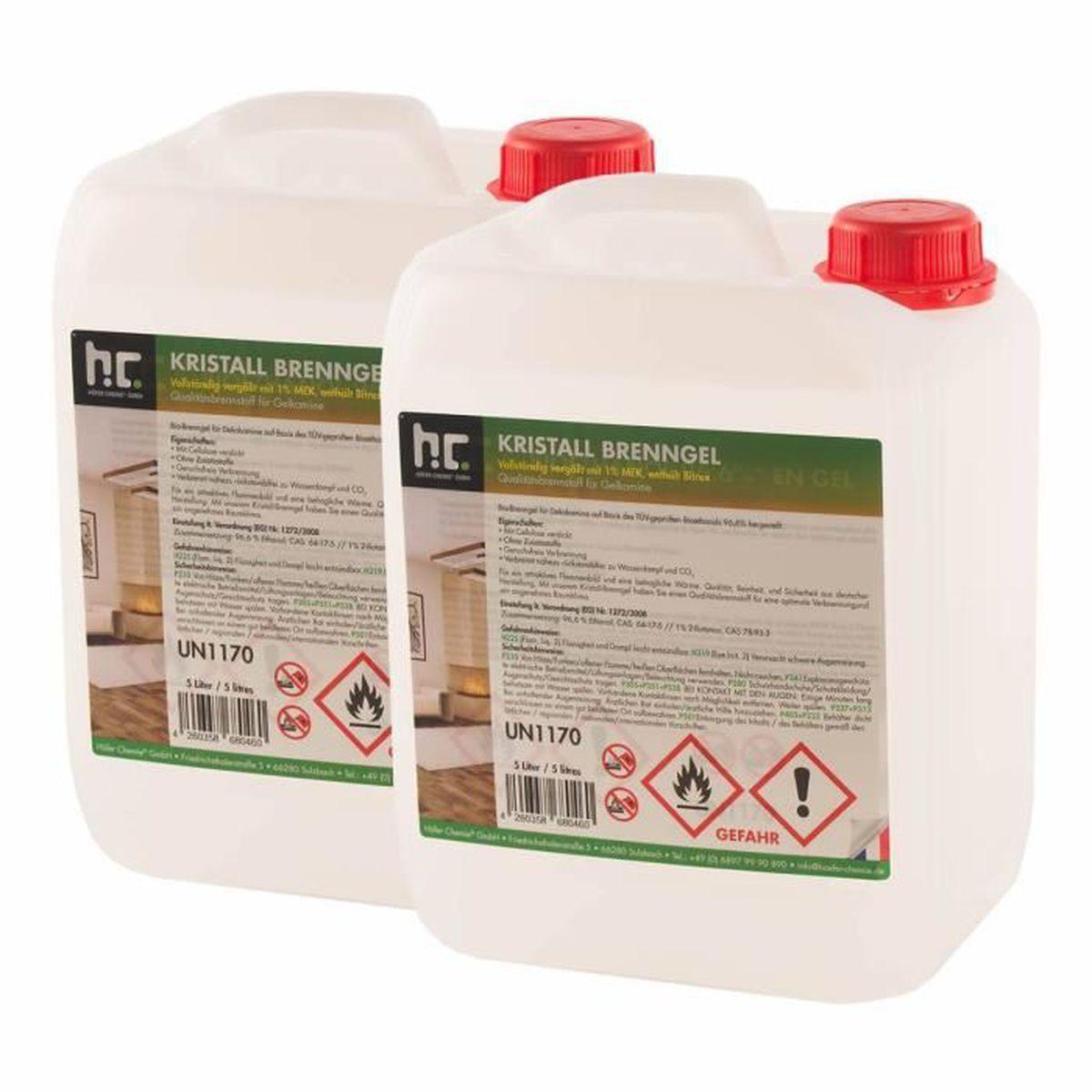 ETHANOL Bioéthanol en gel 4 x 5 L