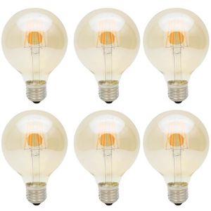 AMPOULE - LED 6X G80 Décorative Ampoule LED Edison style E27 6W