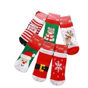 c246664f07f47 CHAUSSETTE DE NOËL 6 Paires de Chaussettes Fantaisie de Noël pour Enf