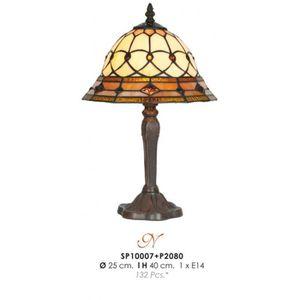 LAMPE A POSER Tabouret lampe Tiffany diamètre 25cm, hauteur 40cm