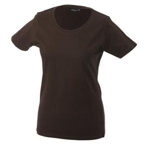 Vente Shirt Cher T Femme Marron Pas Achat SVUzjMGLqp