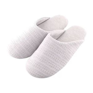 CHAUSSON - PANTOUFLE Tofern Pantoufles Chaussons Coton Lin Confortable