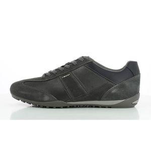 Geox Sneakers Man Noir Noir - Achat / Vente basket  - Soldes* dès le 27 juin ! Cdiscount