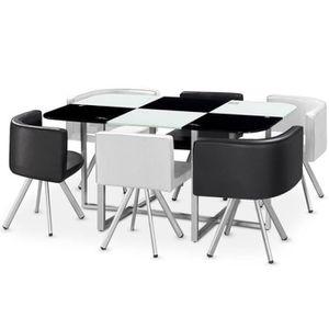 TABLE À MANGER COMPLÈTE Ensemble Table & 6 Chaises Design