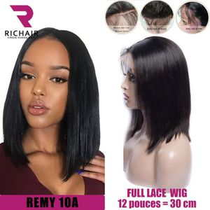 PERRUQUE - POSTICHE perruque bresilienne femme full lace wig lisse REM