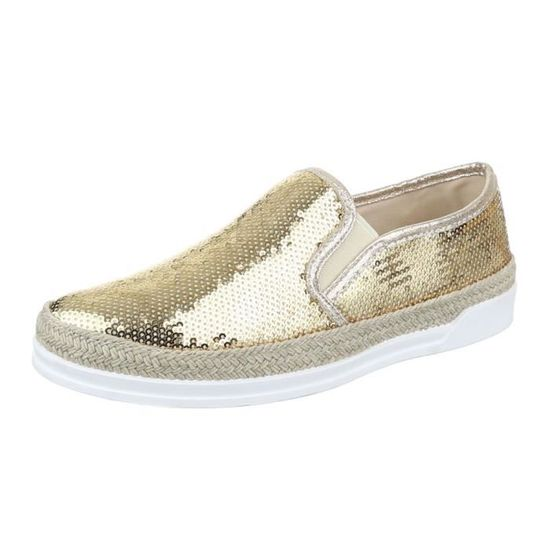 Mocassin Femme Or Basse Chaussure Femme Chaussure 0ZnzqIx at isolate ... 03030dab6732