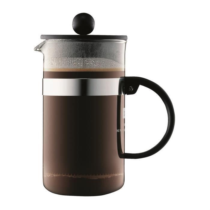 BODUM BISTRO Cafetière piston 3 tasses/0,35L noir