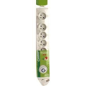 Bloc multiprise 6 Prises 16A+T+ Interrupteur Blanc
