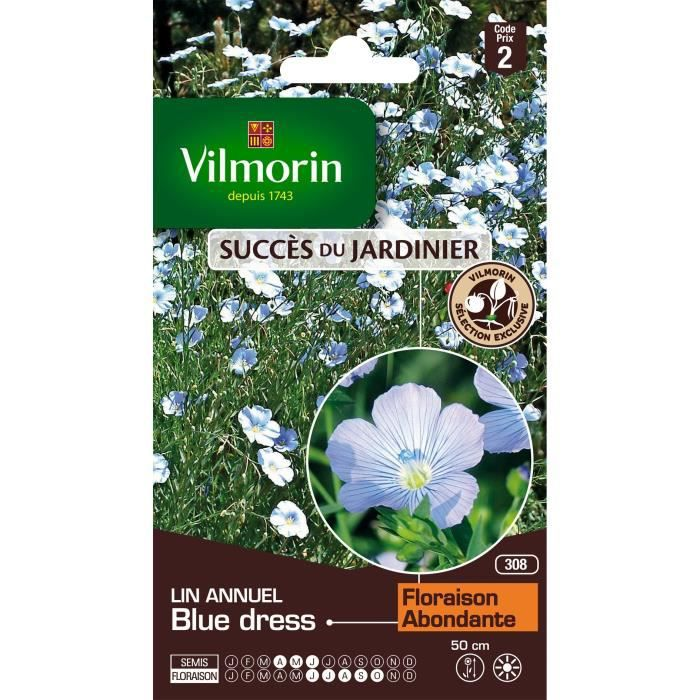 VILMORIN Lin annuel Blue Dress