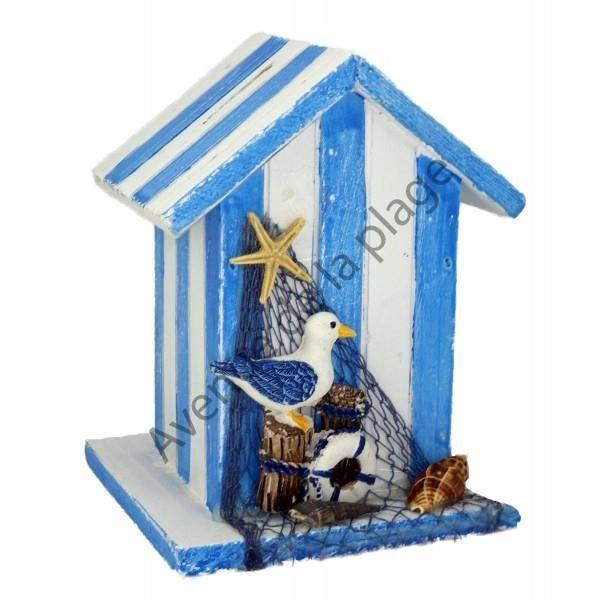 Tirelire cabine de plage d coration bord de mer achat for Decoration exterieur bord de mer