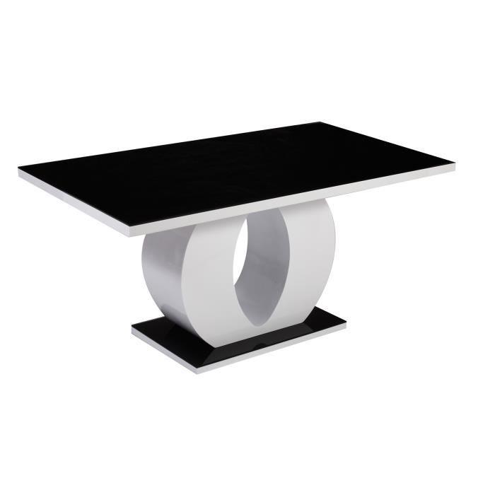 table a manger noir et blanche achat vente pas cher