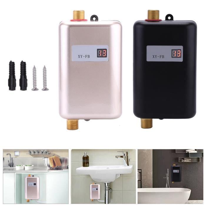 3400w mini chauffe eau instantan electrique temp rature r glable automatique achat vente. Black Bedroom Furniture Sets. Home Design Ideas