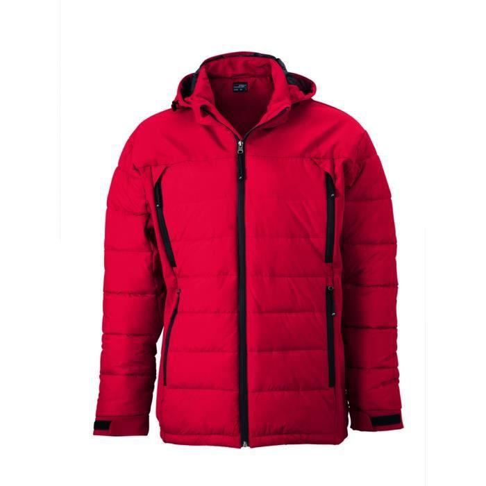 Rouge Neige Jn1050 Veste Matelassée Ski Homme Anorak nkw0OP