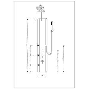 colonne de douche montage angle achat vente colonne de douche montage angle pas cher cdiscount. Black Bedroom Furniture Sets. Home Design Ideas