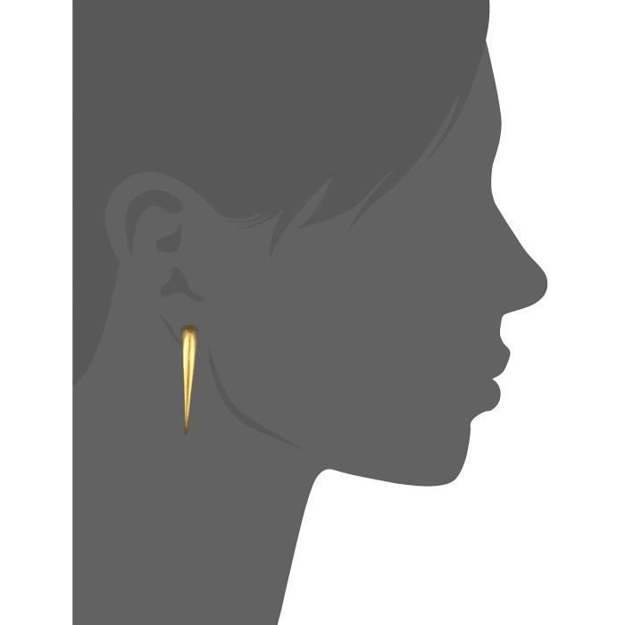 Romy Collection Overlapping Two Part Shiny Gunmetal Magnetic Earrings EAWPF