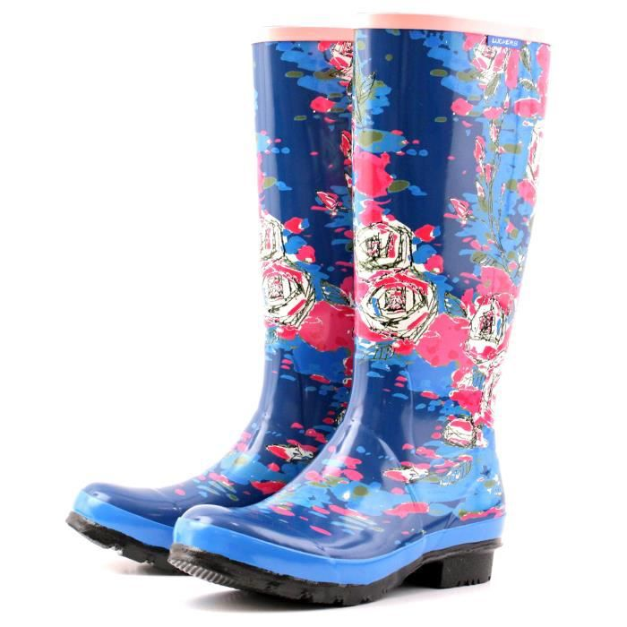 Tall Winter Flowers Wellies Rain Boots H3HB8 Taille-37