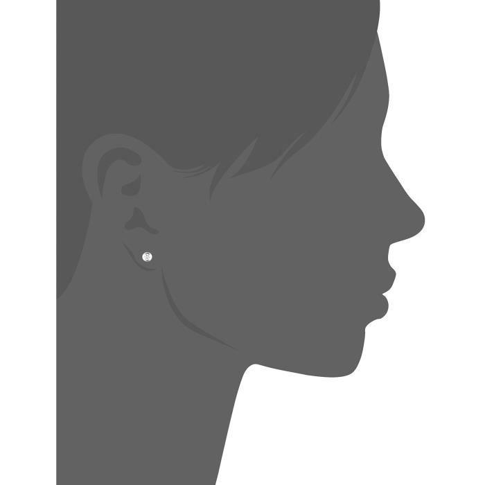 Basic - 371220280 - Boucles Doreilles Femme - Argent 925-1000 - 0.7 Gr - Oxyde De Zirconium MH1NX