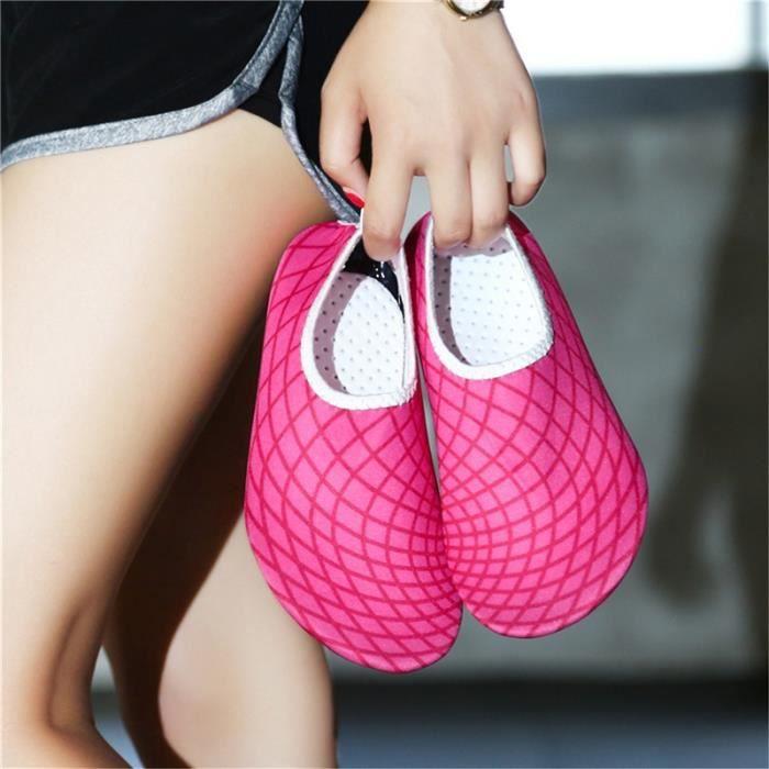 chaussures multisport Homme d'été pour lespataugeant Casual Shoes Sandbeach rose rouge taille37 5nQlNgBao
