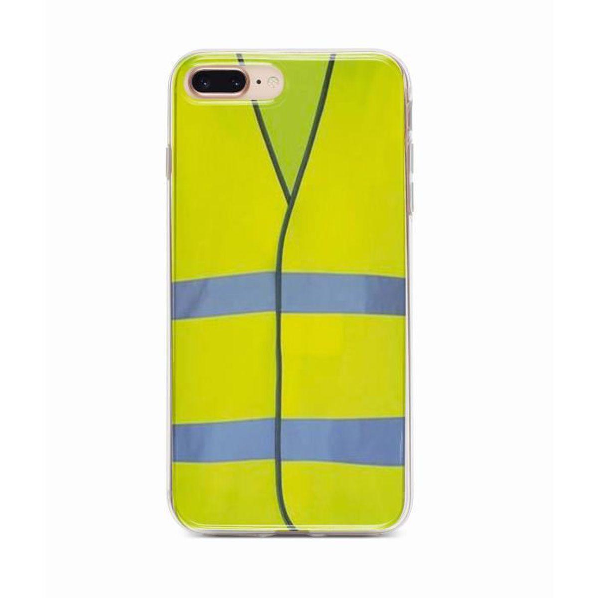 coque iphone 8 plus jaune silicone