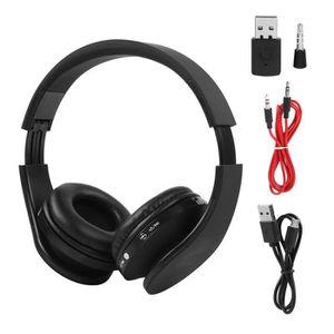 CASQUE - ÉCOUTEURS Multifonction Casque Audio Bluetooth sans Fil Stér