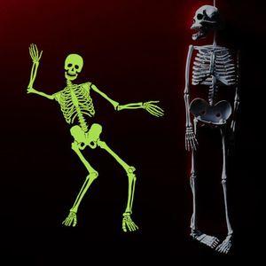 KIT DE DECORATION 60x90cm lumineux Skeleton Skeleton Halloween Haunt