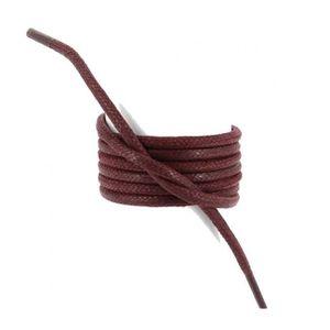 LACET  lacets ronds épais 3mm coton ciré couleur bordeaux