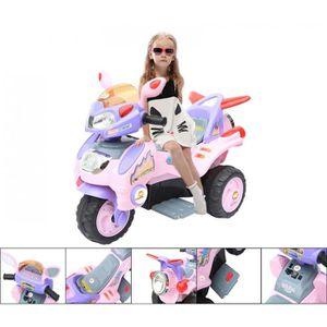 MOTO - SCOOTER Moto électrique 3 roues 6V rose
