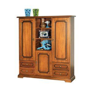 armoire 4 portes 4 tiroirs achat vente pas cher. Black Bedroom Furniture Sets. Home Design Ideas