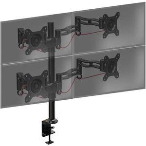 FIXATION ÉCRAN  Duronic DM354 Support de bureau pour quatre écrans